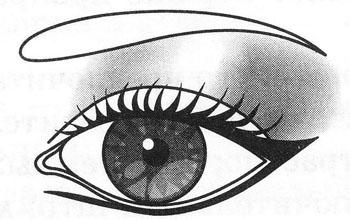 Как приподнять уголок глаза макияжем